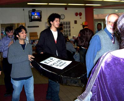 Protesters at BMCC, 23 March 2005