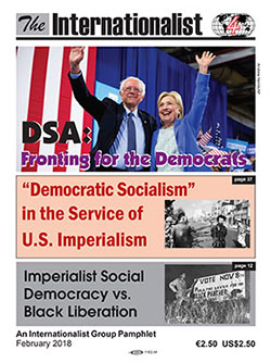 DSA: Fronting for the Democrats pamphlet                         cover