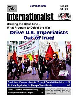 Internationalist No. 21 (Summer 2005)