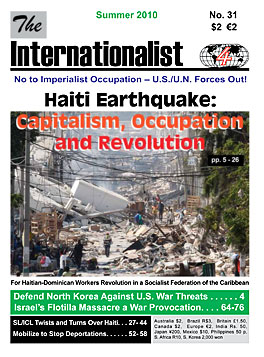 Internationalist                         No. 31 (Summer 2010)