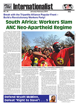 Internationalist                         No. 36 (January-February 2014))