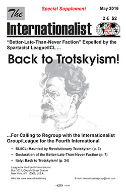 Back to                                           Trotskyism Supplement