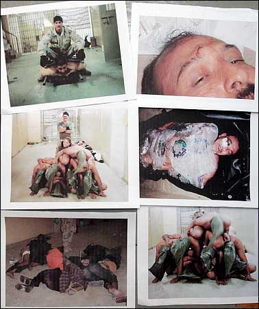 Scenes of torture at Abu Ghraib prison, Iraq