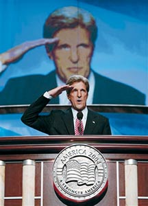 "John Kerry, ""reporting for duty"""