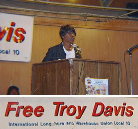 Martina Correia,                             sister of Troy Davis, at ILWU Local 10 Black                             History event, 14 February 2009