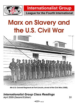 Marx on Slavery and the U.S. Civil War                         pamphlet