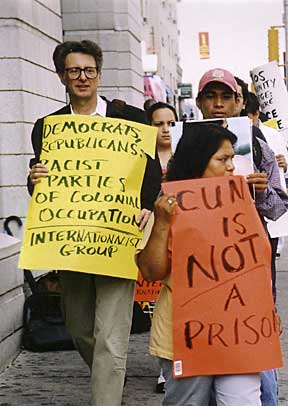 Demonstration for Miguel Malo, 25 September 2003