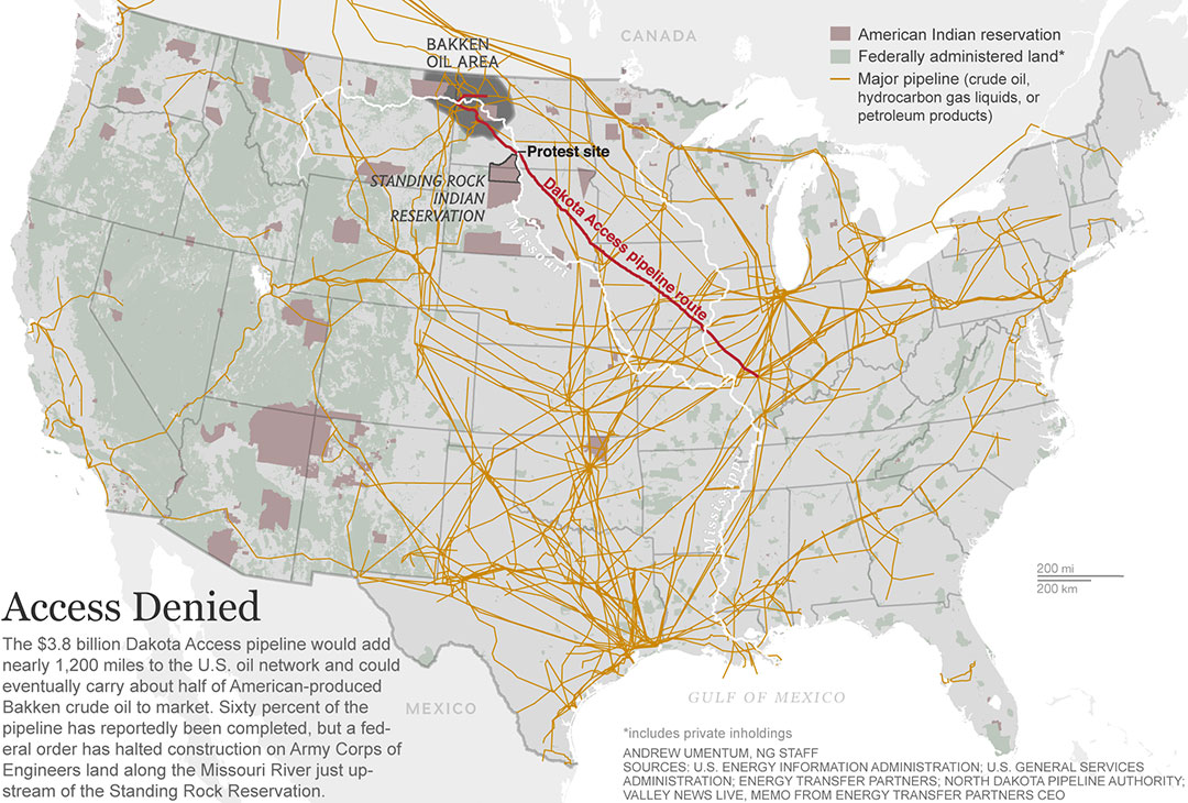 Pipelines Oil Trains And Capitalism - Map of oil pipelines in the us